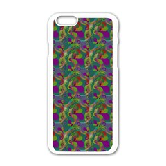 Pattern Abstract Paisley Swirls Apple iPhone 6/6S White Enamel Case