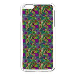 Pattern Abstract Paisley Swirls Apple iPhone 6 Plus/6S Plus Enamel White Case