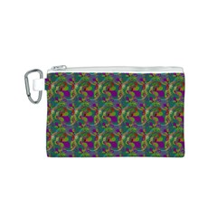 Pattern Abstract Paisley Swirls Canvas Cosmetic Bag (S)