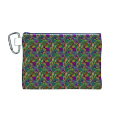 Pattern Abstract Paisley Swirls Canvas Cosmetic Bag (M)