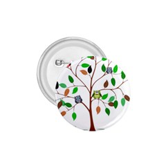 Tree Root Leaves Owls Green Brown 1 75  Buttons