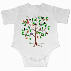 Tree Root Leaves Owls Green Brown Infant Creepers