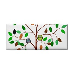 Tree Root Leaves Owls Green Brown Cosmetic Storage Cases