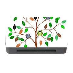 Tree Root Leaves Owls Green Brown Memory Card Reader with CF