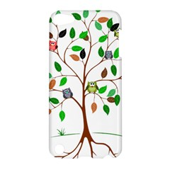 Tree Root Leaves Owls Green Brown Apple iPod Touch 5 Hardshell Case