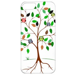 Tree Root Leaves Owls Green Brown Apple iPhone 5 Classic Hardshell Case