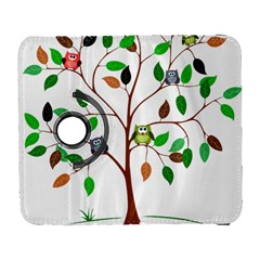 Tree Root Leaves Owls Green Brown Galaxy S3 (Flip/Folio)