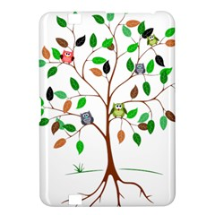 Tree Root Leaves Owls Green Brown Kindle Fire HD 8.9