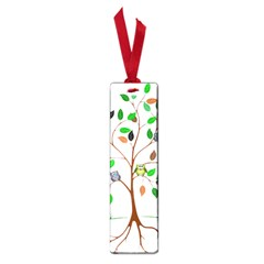 Tree Root Leaves Owls Green Brown Small Book Marks