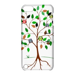 Tree Root Leaves Owls Green Brown Apple iPod Touch 5 Hardshell Case with Stand