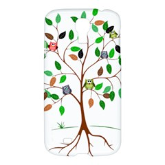 Tree Root Leaves Owls Green Brown Samsung Galaxy S4 I9500/i9505 Hardshell Case