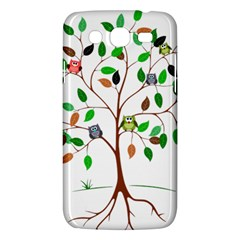 Tree Root Leaves Owls Green Brown Samsung Galaxy Mega 5.8 I9152 Hardshell Case