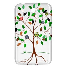 Tree Root Leaves Owls Green Brown Samsung Galaxy Tab 3 (7 ) P3200 Hardshell Case