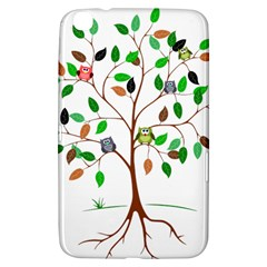 Tree Root Leaves Owls Green Brown Samsung Galaxy Tab 3 (8 ) T3100 Hardshell Case