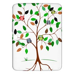 Tree Root Leaves Owls Green Brown Samsung Galaxy Tab 3 (10.1 ) P5200 Hardshell Case