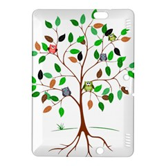 Tree Root Leaves Owls Green Brown Kindle Fire HDX 8.9  Hardshell Case