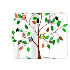 Tree Root Leaves Owls Green Brown Kindle Fire HDX 8.9  Flip 360 Case