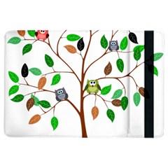 Tree Root Leaves Owls Green Brown iPad Air 2 Flip