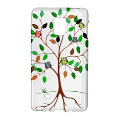 Tree Root Leaves Owls Green Brown Galaxy Note Edge