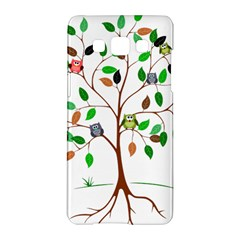 Tree Root Leaves Owls Green Brown Samsung Galaxy A5 Hardshell Case