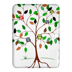 Tree Root Leaves Owls Green Brown Samsung Galaxy Tab 4 (10.1 ) Hardshell Case