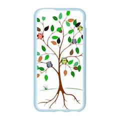 Tree Root Leaves Owls Green Brown Apple Seamless iPhone 6/6S Case (Color)