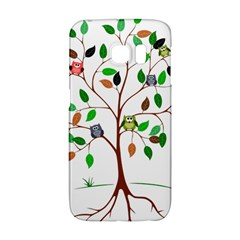 Tree Root Leaves Owls Green Brown Galaxy S6 Edge
