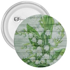 On Wood May Lily Of The Valley 3  Buttons