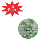 On Wood May Lily Of The Valley 1  Mini Buttons (10 Pack)