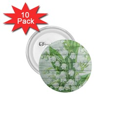 On Wood May Lily Of The Valley 1 75  Buttons (10 Pack)