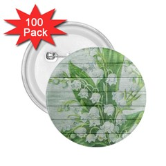 On Wood May Lily Of The Valley 2 25  Buttons (100 Pack)