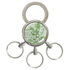 On Wood May Lily Of The Valley 3-Ring Key Chains