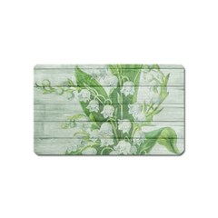 On Wood May Lily Of The Valley Magnet (Name Card)