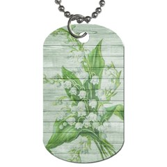 On Wood May Lily Of The Valley Dog Tag (one Side)