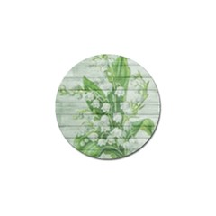 On Wood May Lily Of The Valley Golf Ball Marker (10 pack)