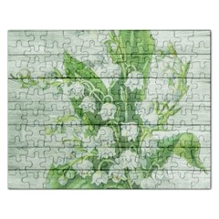On Wood May Lily Of The Valley Rectangular Jigsaw Puzzl