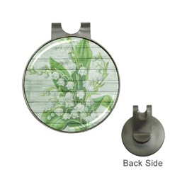 On Wood May Lily Of The Valley Hat Clips with Golf Markers