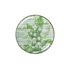 On Wood May Lily Of The Valley Hat Clip Ball Marker (4 Pack)