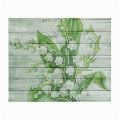 On Wood May Lily Of The Valley Small Glasses Cloth