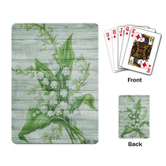On Wood May Lily Of The Valley Playing Card