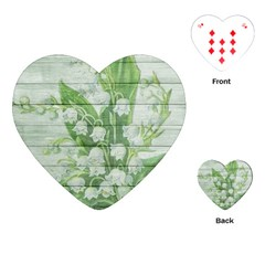 On Wood May Lily Of The Valley Playing Cards (Heart)
