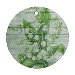 On Wood May Lily Of The Valley Round Ornament (two Sides)