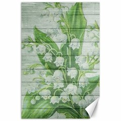 On Wood May Lily Of The Valley Canvas 24  x 36