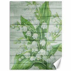 On Wood May Lily Of The Valley Canvas 36  X 48
