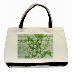 On Wood May Lily Of The Valley Basic Tote Bag (two Sides)