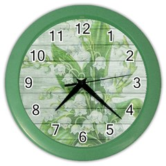 On Wood May Lily Of The Valley Color Wall Clocks