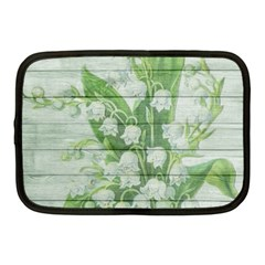 On Wood May Lily Of The Valley Netbook Case (medium)