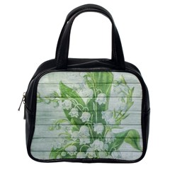 On Wood May Lily Of The Valley Classic Handbags (one Side)