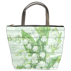 On Wood May Lily Of The Valley Bucket Bags