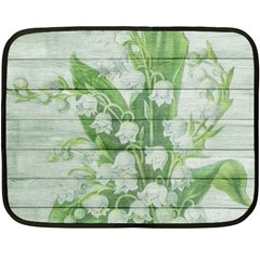On Wood May Lily Of The Valley Fleece Blanket (mini)